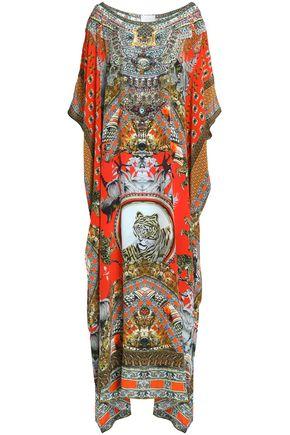 CAMILLA Flour Hour embellished printed silk crepe de chine kaftan