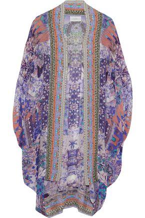 CAMILLA Embellished printed silk crepe de chine jacket