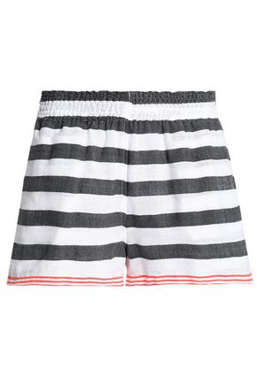 LEMLEM Striped cotton-blend shorts