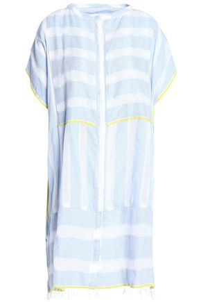 LEMLEM Striped cotton-gauze coverup
