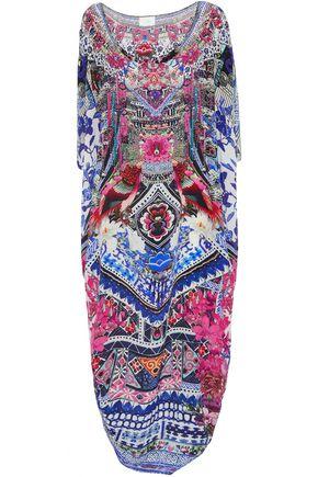 CAMILLA Convertible crystal-embellished printed silk crepe de chine kaftan