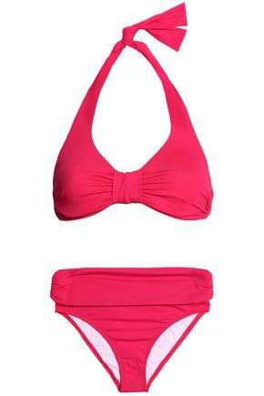 IRIS & INK Patti ruched halterneck bikini