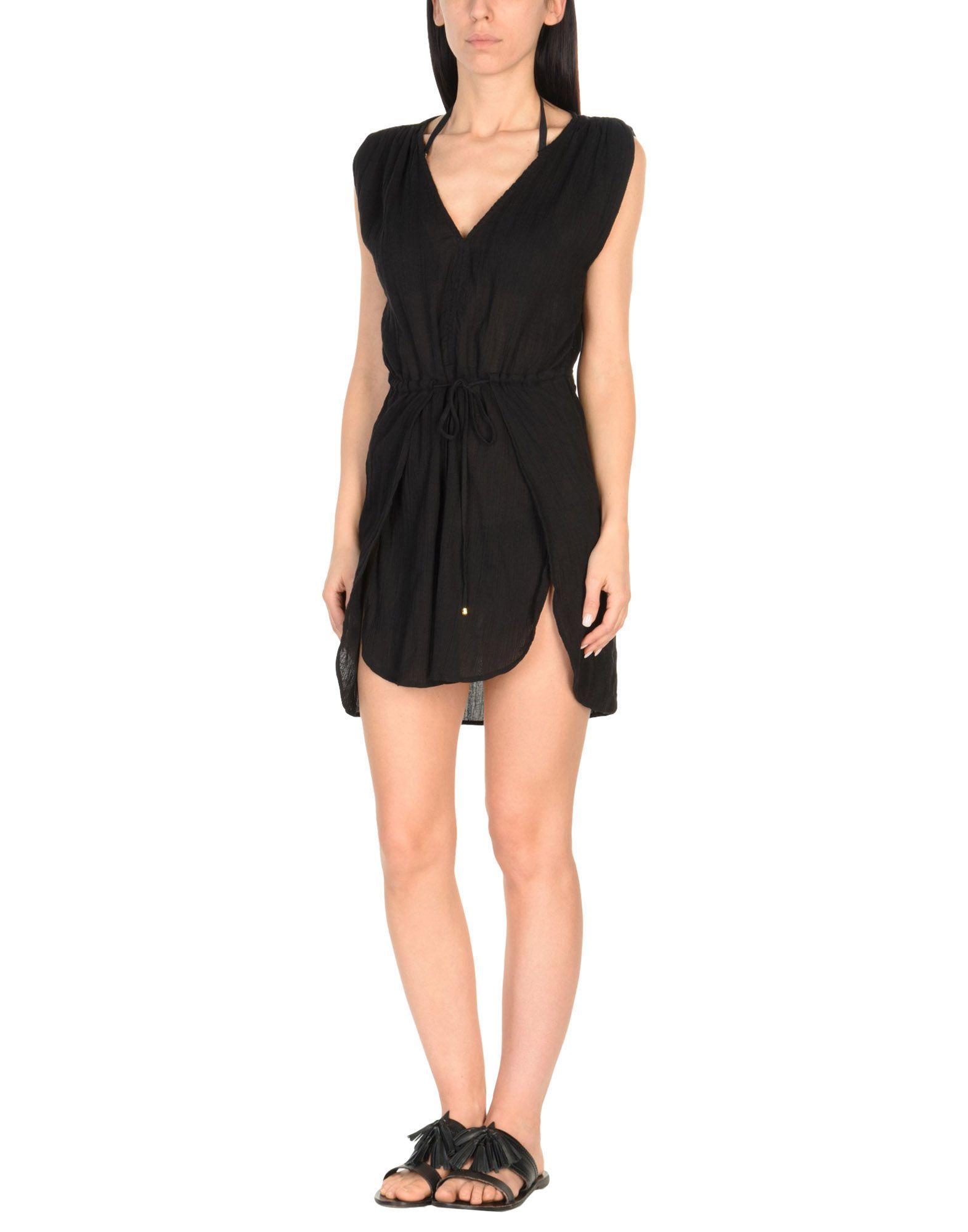 《セール開催中》VIX PAULA HERMANNY レディース ビーチドレス ブラック L コットン 100%