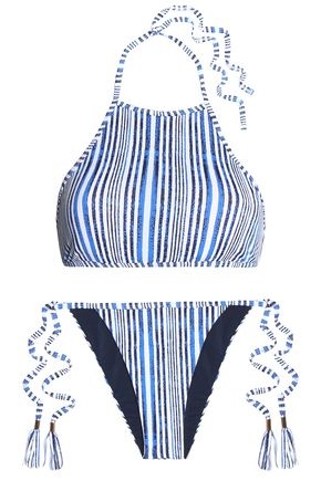 TART COLLECTIONS Quinn striped halterneck bikini