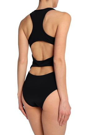 TART COLLECTIONS Hadley cutout two-tone swimsuit