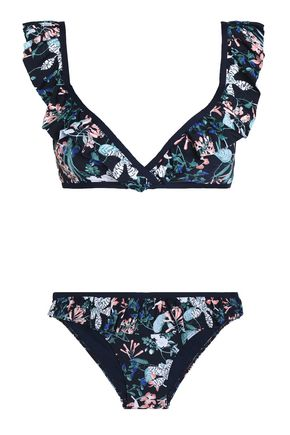 TART COLLECTIONS Paige ruffled floral-print bikini