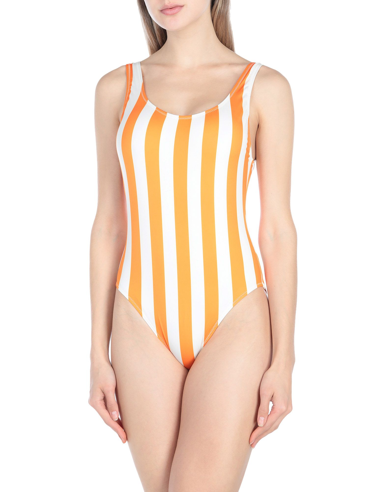 SOLID & STRIPED Слитный купальник adjustable strap striped swimsuit