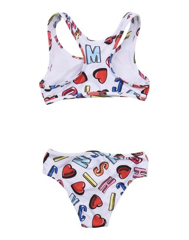 MOSCHINO Mädchen Bikini Weiß Größe 4 88% Polyester 12% Elastan