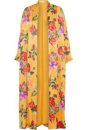ALICE+OLIVIA Draped floral-print crepe de chine jacket