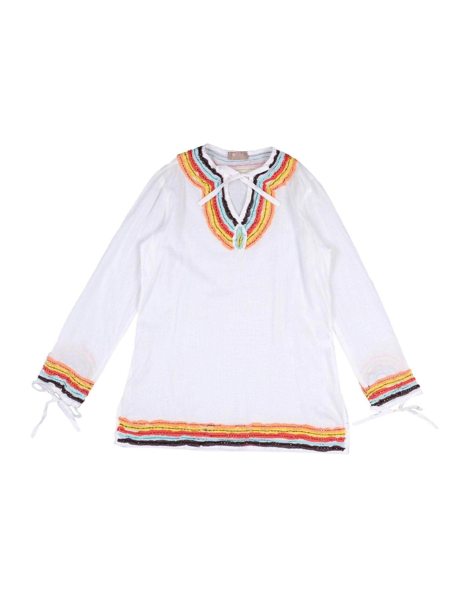 《送料無料》OKAY BRASIL KIDS ガールズ 3-8 歳 ビーチドレス ホワイト 6 コットン 100%