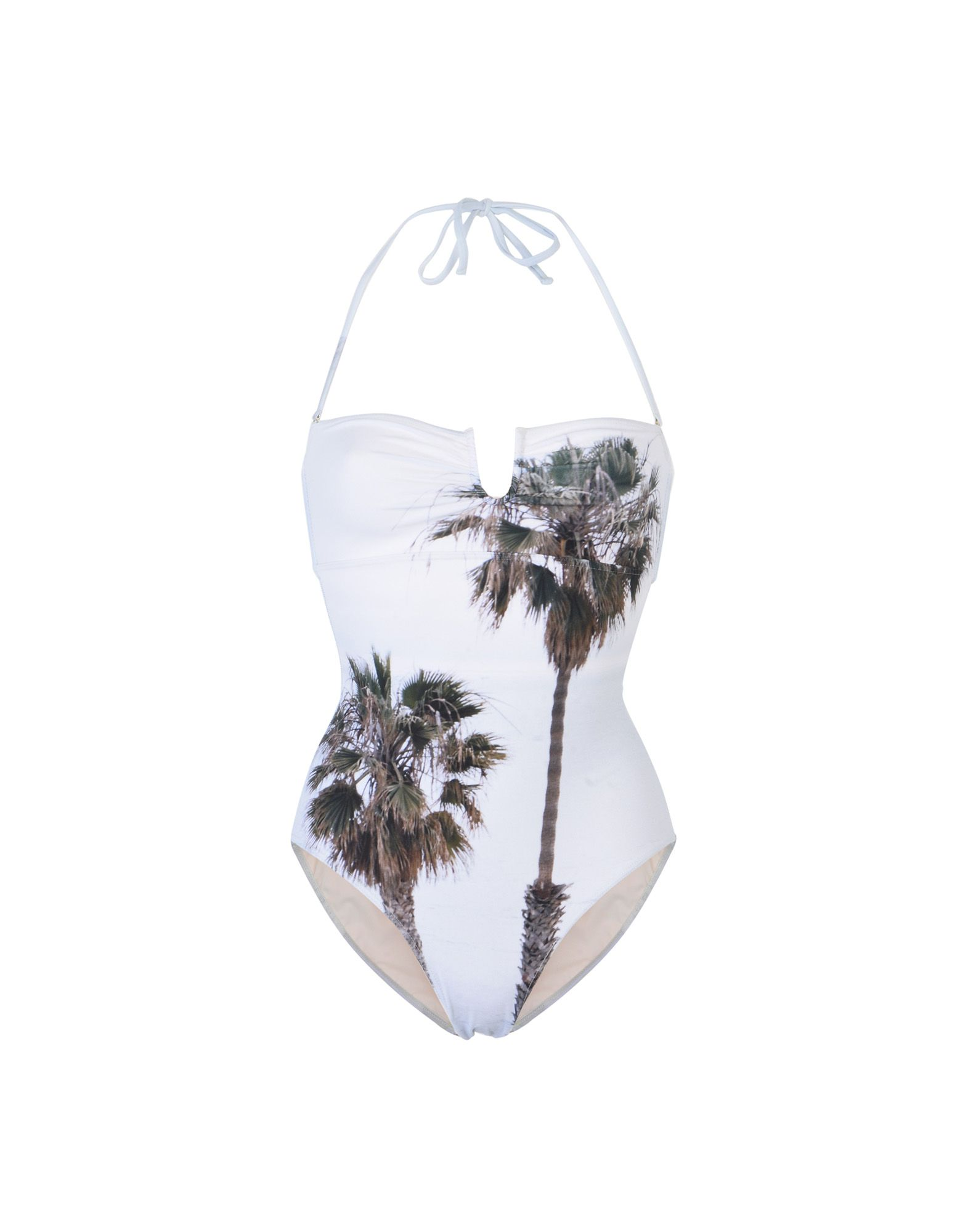 《セール開催中》ALBERTINE レディース 水着(ワンピース) ライトグレー 1 ナイロン 80% / ポリウレタン 20% SHELL BEACH