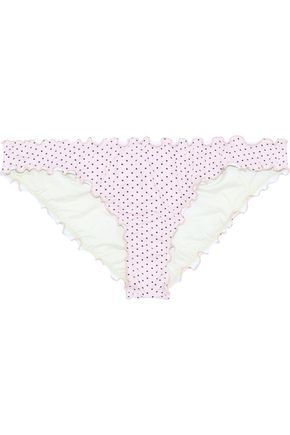 EBERJEY Dotty Sandy printed low-rise bikini briefs