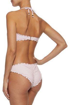 EBERJEY Dotty Jolie printed bandeau bikini top