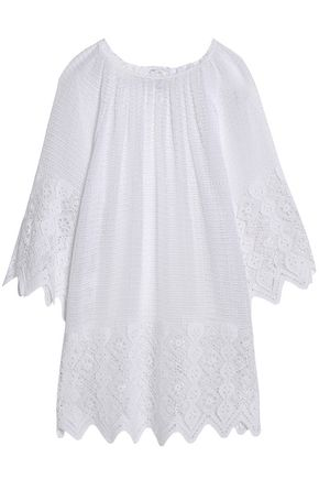 MIGUELINA Crocheted cotton coverup
