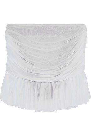 NORMA KAMALI Richie layered mesh mid-rise bikini briefs