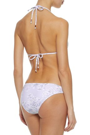 EBERJEY Floral-print triangle bikini top