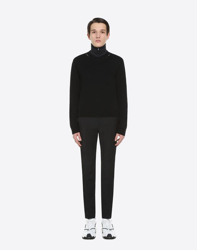 MOHAIR WOOL HIGH-WAISTED TROUSERS