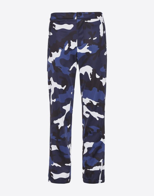 Camouflage jersey trousers