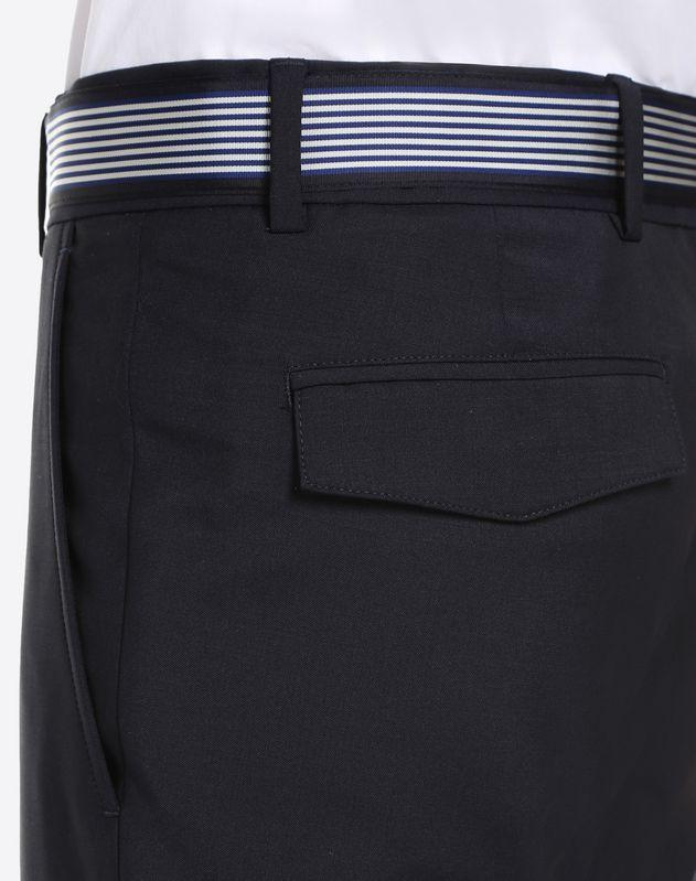 Pantalon en laine mohair avec ceinture