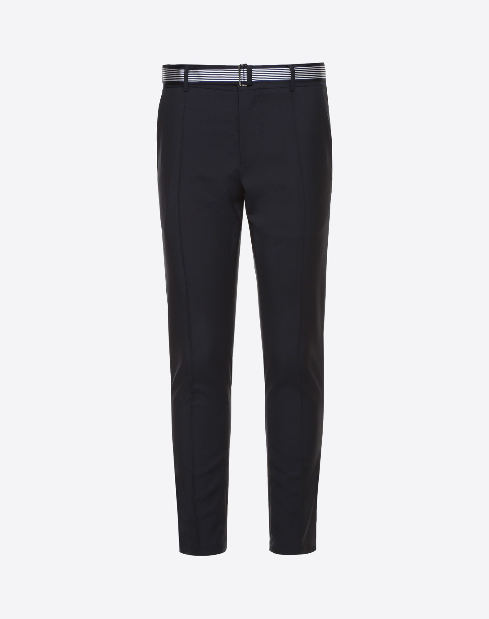 Mohair wool trousers with belt