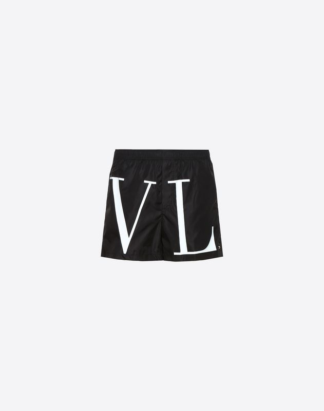 b689bd279fb35 VLTN PRINT SWIM SHORTS for Man | Valentino Online Boutique