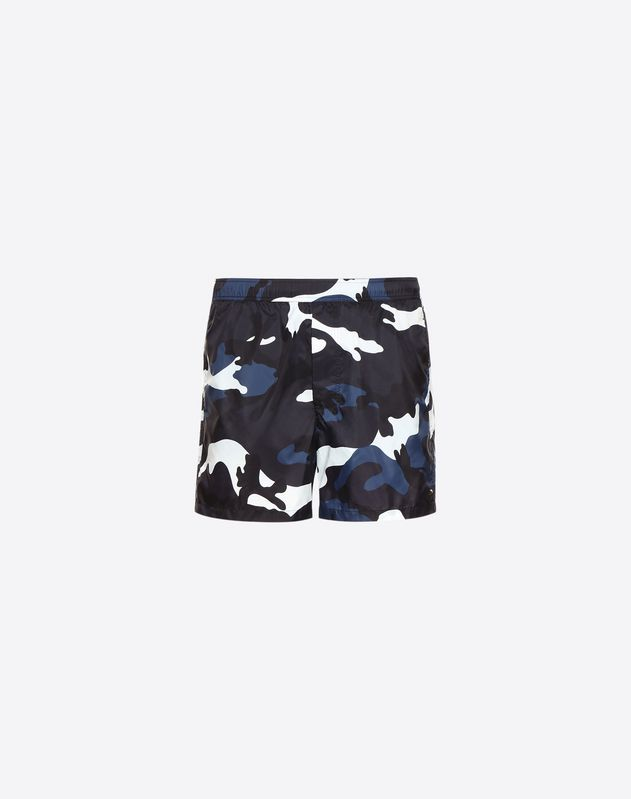 Badehose mit Camouflage-Print