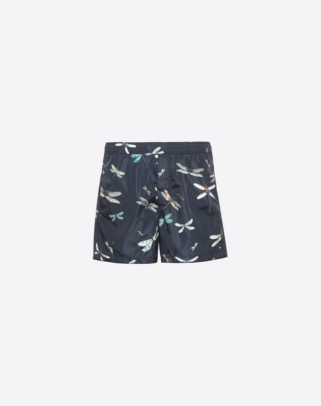 Dragonfly print swimming shorts