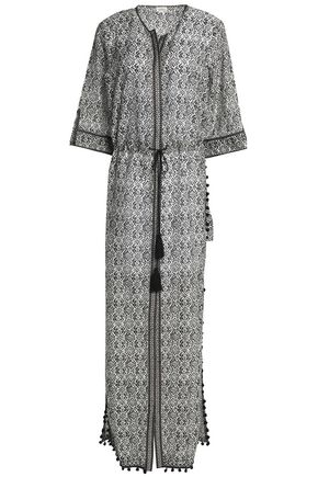 TALITHA Pompom-trimmed printed cotton and silk-blend maxi dress