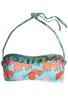 JUST CAVALLI BEACHWEAR Embellished halterneck bikini top
