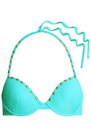JUST CAVALLI BEACHWEAR Studded bikini top