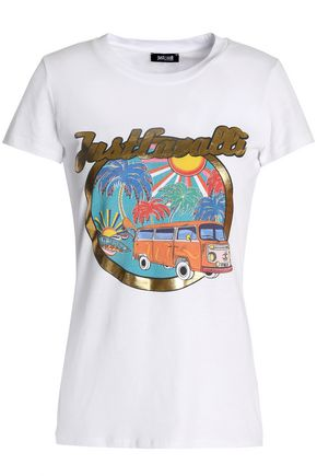 JUST CAVALLI BEACHWEAR Printed cotton-jersey T-shirt