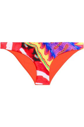 JUST CAVALLI BEACHWEAR Printed low-rise bikini briefs