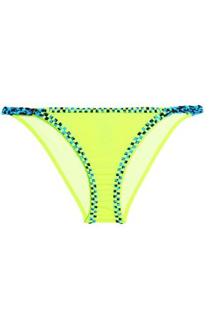 JUST CAVALLI BEACHWEAR Neon low-rise bikini briefs