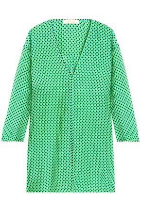 DIANE VON FURSTENBERG Printed cotton and silk-blend coverup