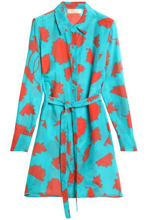 DIANE VON FURSTENBERG Printed cotton and silk-blend voile coverup