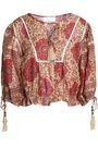 ZIMMERMANN Lattice-trimmed printed linen blouse