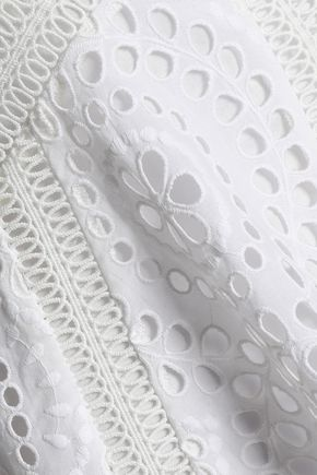 ZIMMERMANN Broderie anglaise cotton peplum top