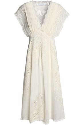ZIMMERMANN Paradiso broderie anglaise silk and cotton-blend midi dress