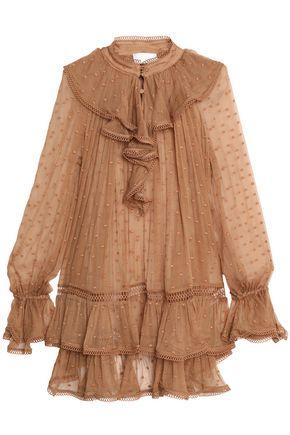 ZIMMERMANN Tulsi ruffled Swiss-dot silk-georgette blouse