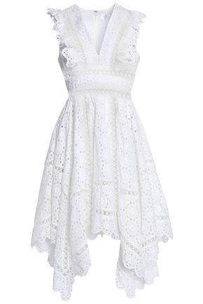 ZIMMERMANN Divinity Wheel asymmetric broderie anglaise cotton dress