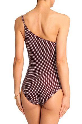 ZIMMERMANN One-shoulder polka-dot swimsuit
