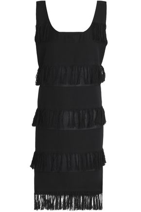 PRISM Nevis fringed cotton-twill dress