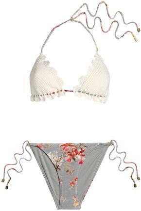 ZIMMERMANN Crochet-knit triangle bikini