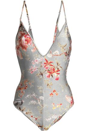 ZIMMERMANN Floral-print swimsuit