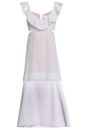 ZIMMERMANN Layered cutout broderie anglaise cotton dress