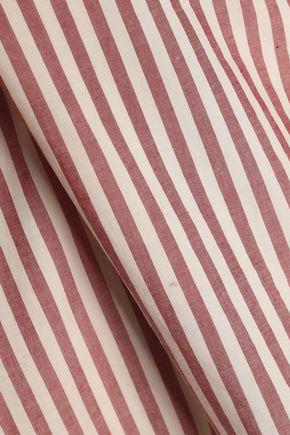 ZIMMERMANN Cutout broderie anglaise striped cotton mini dress