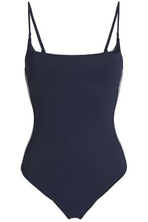ZIMMERMANN Striped neoprene swimsuit