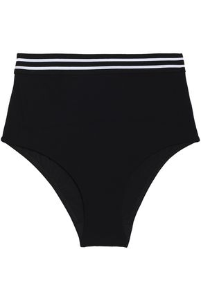 ZIMMERMANN Striped high-rise bikini briefs