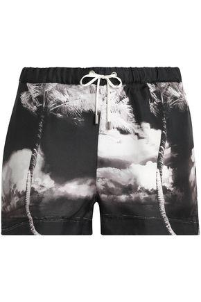 ORLEBAR BROWN Printed silk-twill shorts