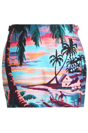 ORLEBAR BROWN Printed canvas mini skirt